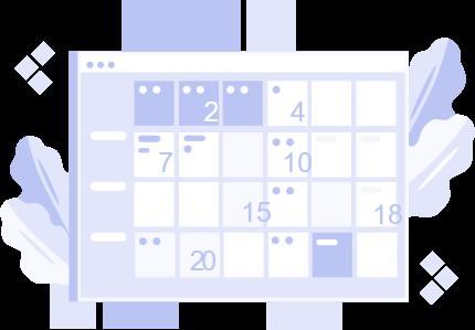 calendrier de la semaine